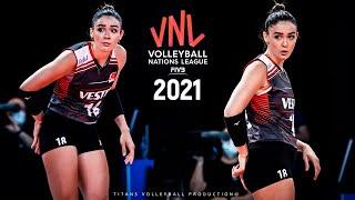 Zehra Gunes - Powerful Volleyball SPIKES  Womens VNL 2021
