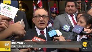 Ministro Idel Vexler da fecha y reglas de la primera evaluación a profesores│RPP