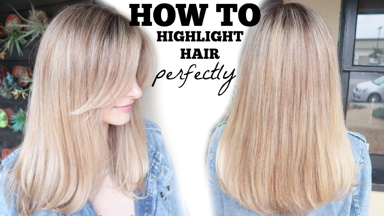 How To Highlight Hair Foil Perfectly Without Damage Youtube