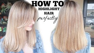 HOW TO HIGHLIGHT HAIR | Foil perfectly without damage!