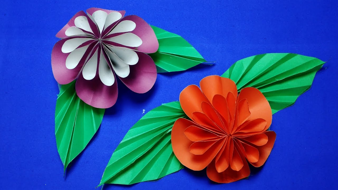 Paper Flower Diy How To Make Easy Paper Flowers Step By Step