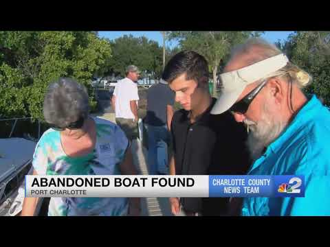 Abandoned Boat In Charlotte County Is Raising Questions
