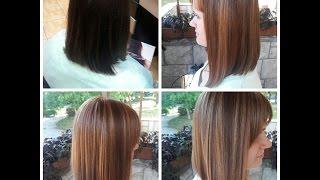 Модное колорирование на темные волосы \ Fashionable coloring on dark hair
