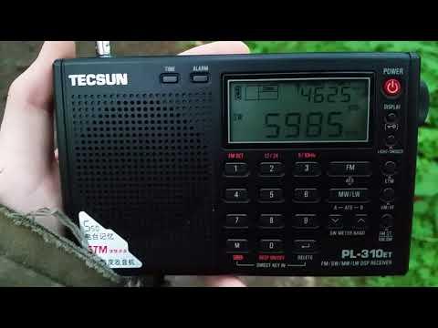Tecsun Pl-310 et - Myanmar Radio  5985 khz