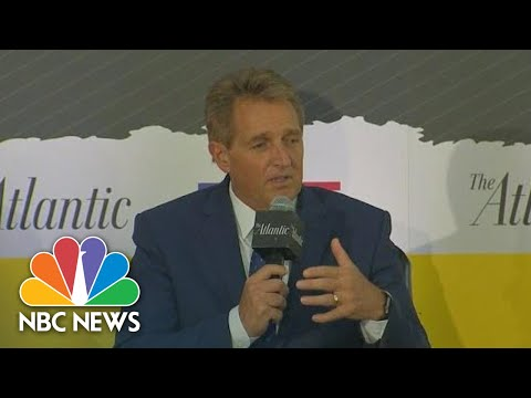 Senator Jeff Flake Says He Was 'Troubled' By Brett Kavanaugh's Partisan Tone At Hearing | NBC News