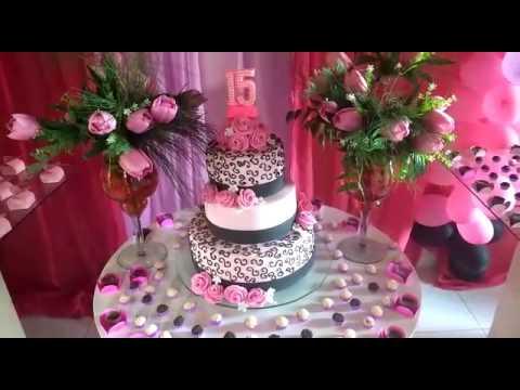 Idéias de decoração festa de 15 anos / meus quiser anos / festa em casa