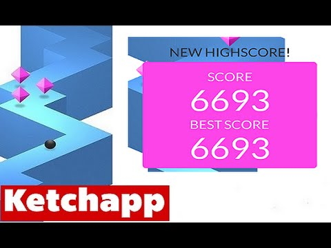ZIGZAG By Ketchapp | High Score 6000+ (6693) Old World Record (iPhone Gameplay Video)
