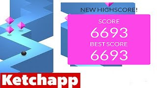 Video ZIGZAG by Ketchapp | High Score 6000+ (6693) Old World Record (iPhone Gameplay Video) download MP3, 3GP, MP4, WEBM, AVI, FLV Juni 2017