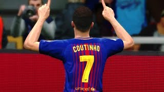 Barcelona vs Real Madrid (Coutinho Scored 2 Goals) UCL 2018 Gameplay
