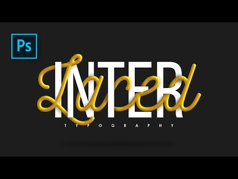 Tutorial Typography Interlaced Text effect Photoshop - Photoshop Tutorial Indonesia