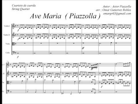 Piazzolla - Ave Maria songs