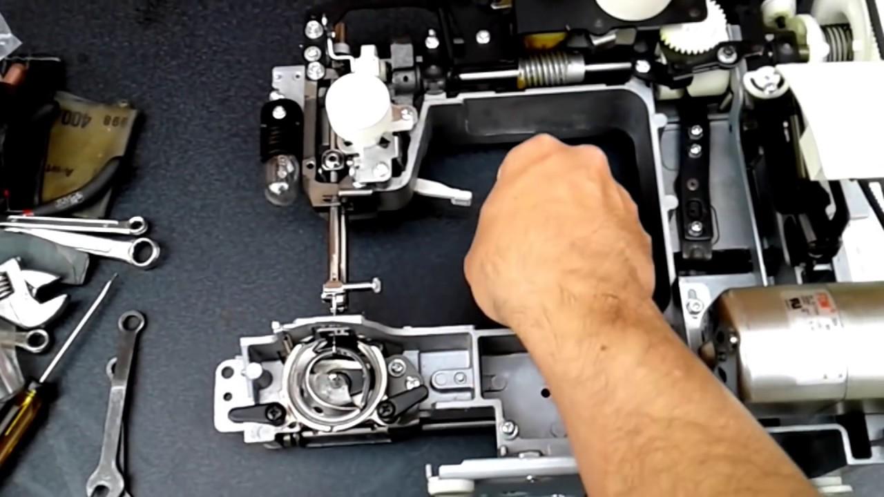 puesta a punto cangrejo de maquina de coser domestica