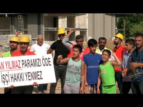 İzmir'de İnşaat İşçileri Çalıştıkları Firmadan Maaşlarını Alamayınca Eylem Yaptı