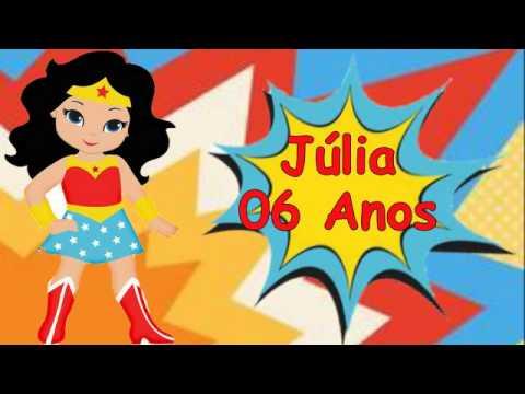 Convite Virtual Mulher Maravilha Youtube