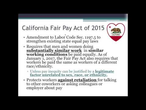 Equal Pay In California: Your Right To Pay Equity In The Workplace