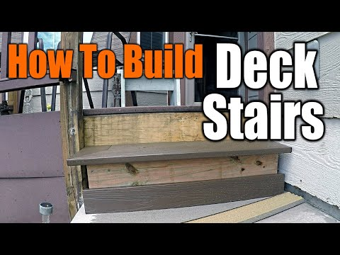 How to Build Perfect Deck Stairs | THE HANDYMAN |
