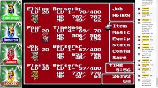 [Four Job Fiesta] Final Fantasy 5 : Forbidden Run Part 3