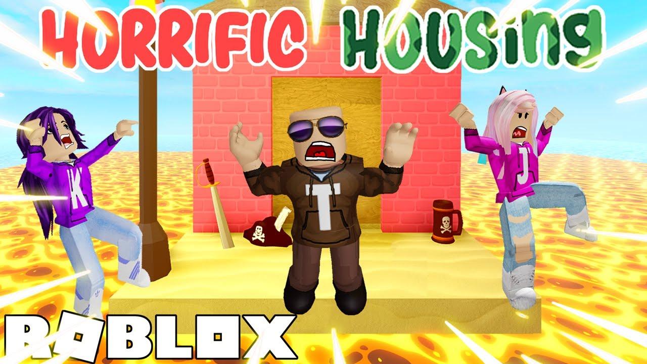 The HORRIFIC HOUSING Floor is LAVA! / Roblox