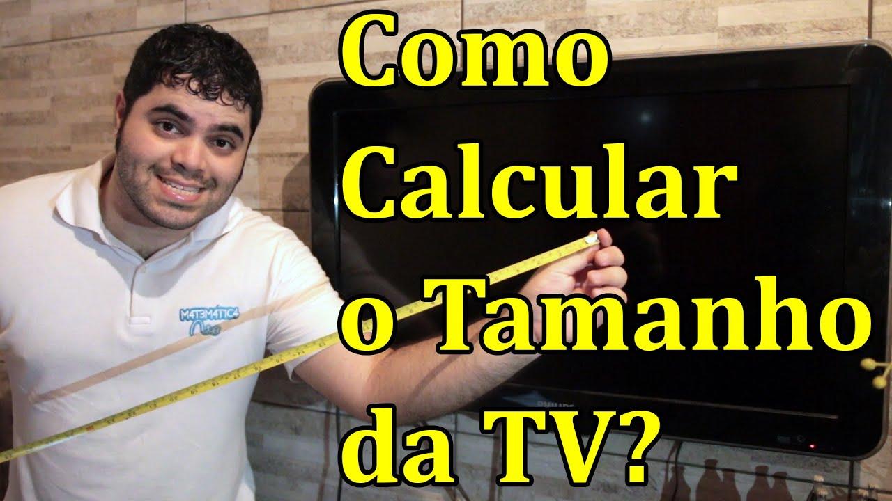 Amado Como calcular o tamanho da televisão em polegadas? | Matemática  GP42