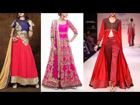 Long Anarkali Gown Dress Designs 2017 Part 11