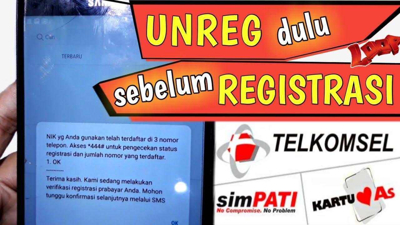Pelanggan bakal diminta data diri berupa nomor ponsel. Cara Registrasi Kartu Telkomsel & Cara UNREG Telkomsel ...