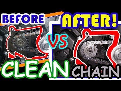 How I Clean & Lubricate Motorcycle Chain | Yamaha FZ Fi 2018