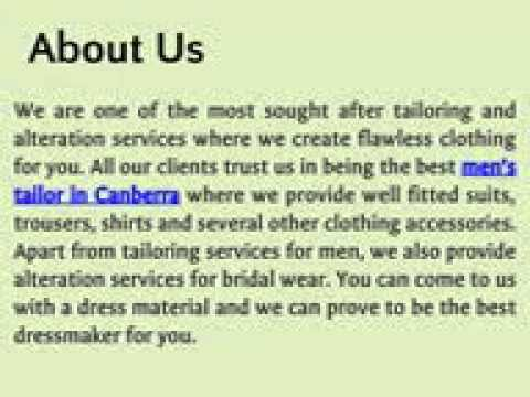 Mens Tailor in Canberra