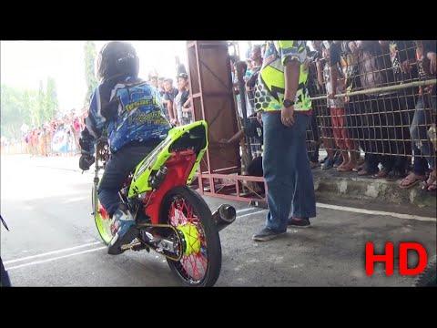 KAJEN Drag Bike Gadhuro Class SATRIA FU Std 150 CC Lokal Eks  Kares  Pekalongan Terbaru