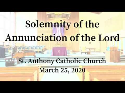 Solemnity of the Annunciation of the Lord_March 25, 2020