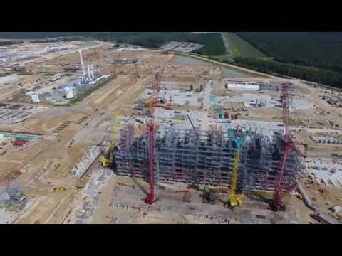Sasol's US Mega Project (October 2016) | Latest aerial view of construction