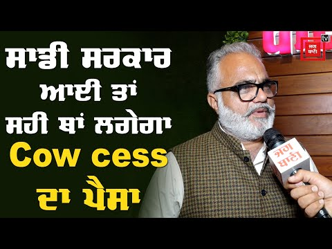 Cow cess ਨੂੰ ਲੈ ਕੇ BJP ਆਗੂ ਦਾ ਬਿਆਨ, ਸਰਕਾਰ ਤੇ ਮੜੇ ਦੋਸ਼