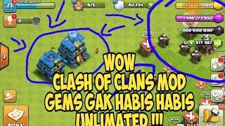 Clash Of Clans Mod Unlimited Gems Terbaru Tahun Ini