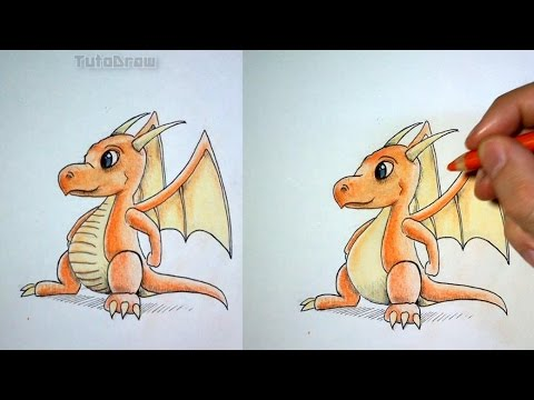 Comment Dessiner Un Bébé Dragon Tutoriel Youtube