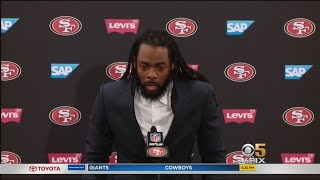 SHERMAN ON NINERS WIN: Veteran defensive back Richard Sherman talks about 49ers victory