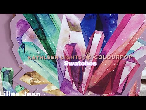 NEW Colourpop x Kathleen Lights SO JADED Pressed Powder Palette Eyeshadow SWATCHES | Lillee Jean thumbnail