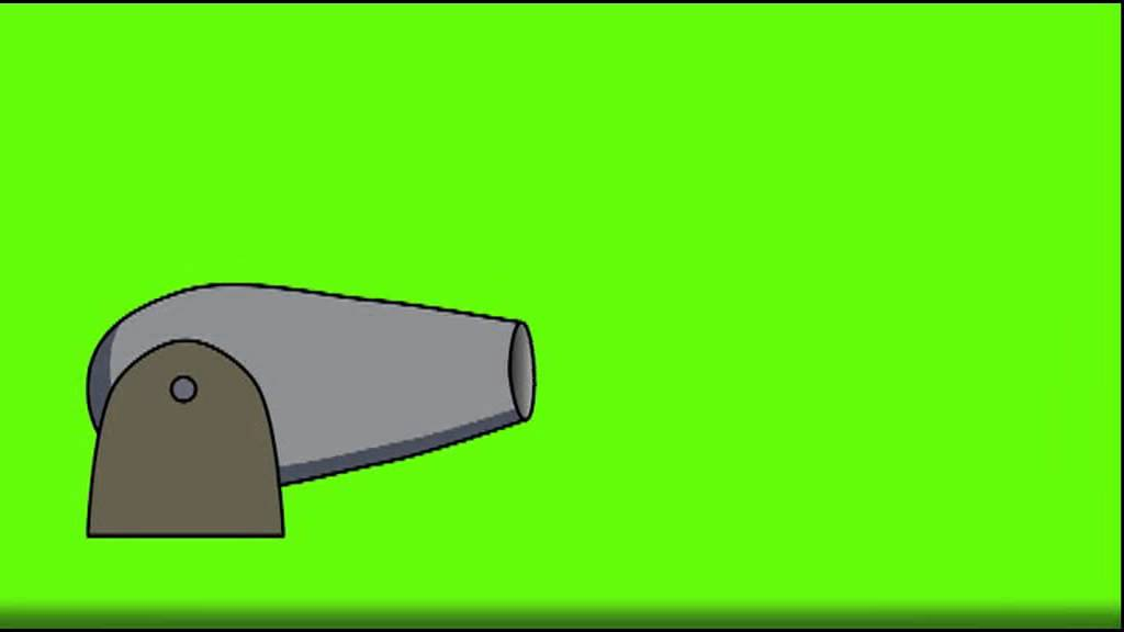 green screen cartoon cannon - youtube