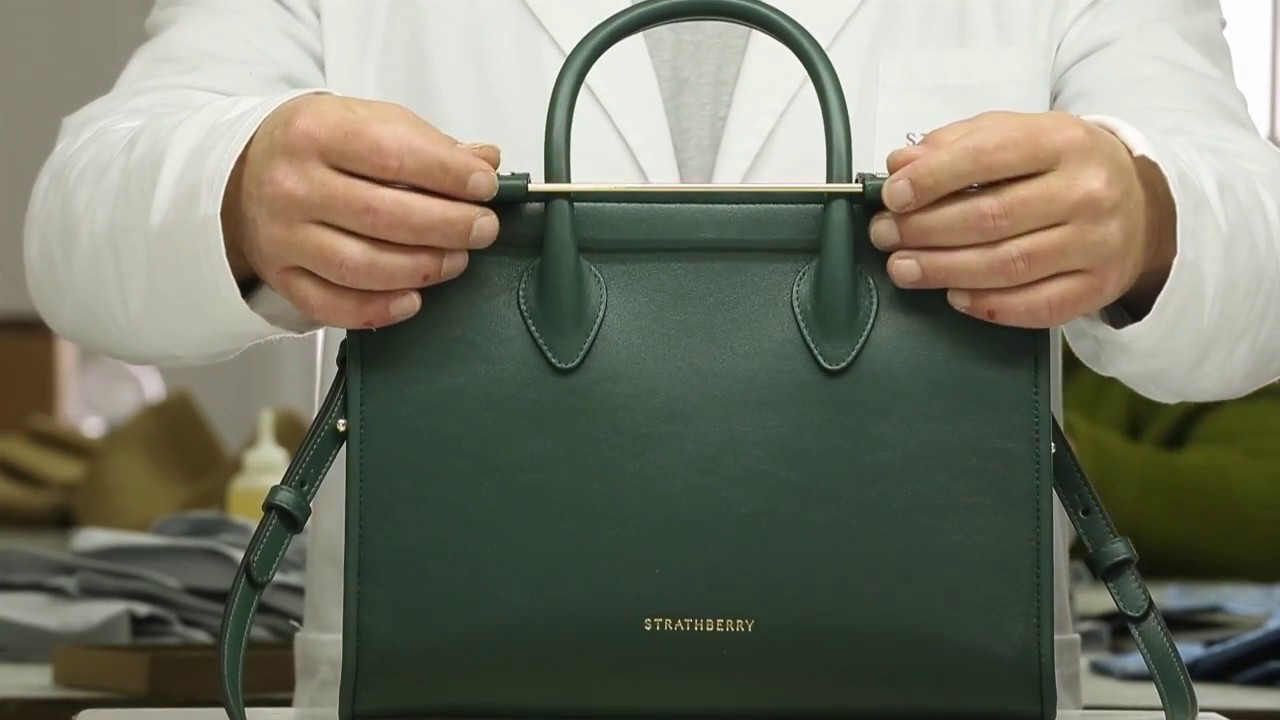 c316dfcb54c3 Making The Strathberry Midi Tote in Bottle Green - YouTube
