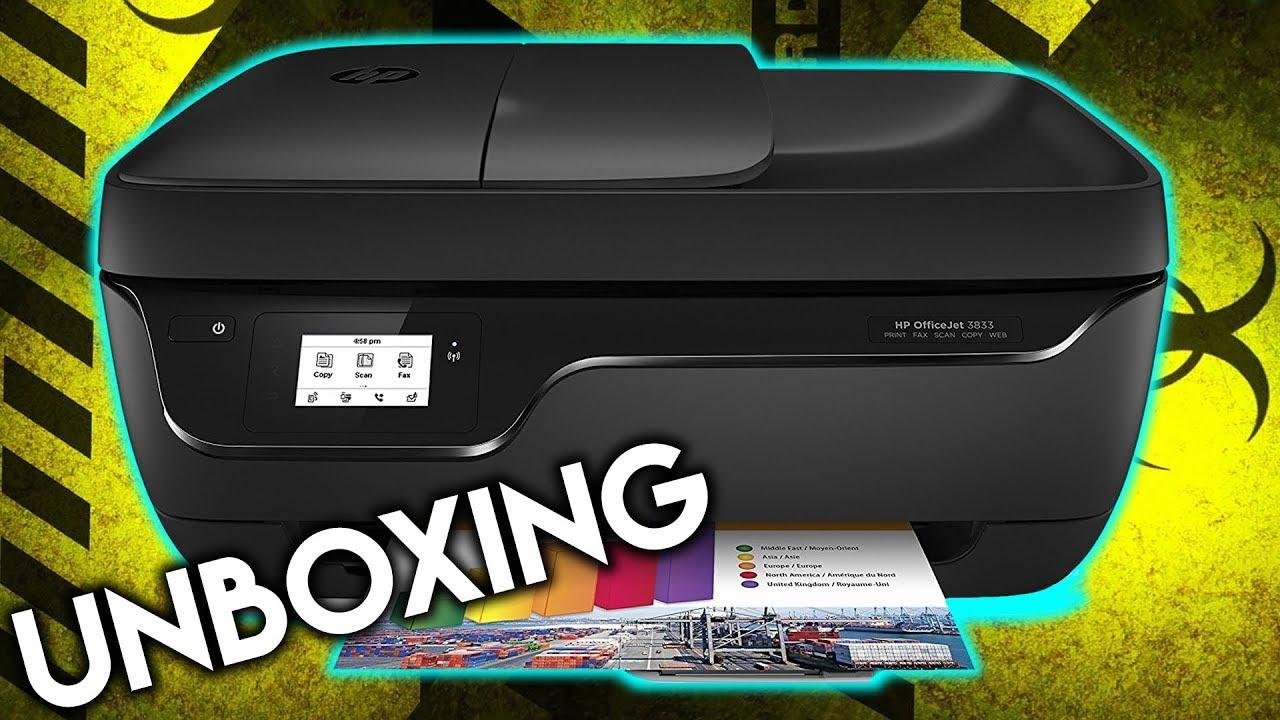 Unboxing Y Primera Instalaci 211 N Impresora Hp Officejet 3833
