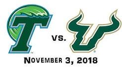 November 3, 2018 - Tulane Green Wave vs. South Florida Bulls Full Football Game