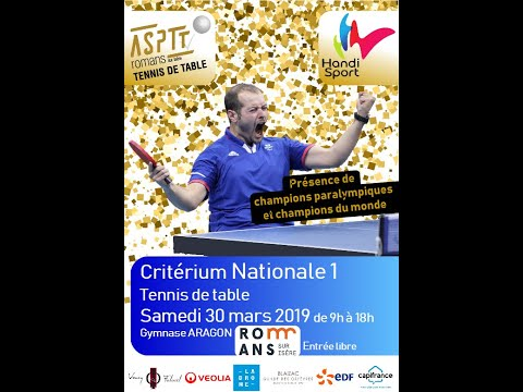 Teaser ASPTT Critérium Nationale1 Tennis de table