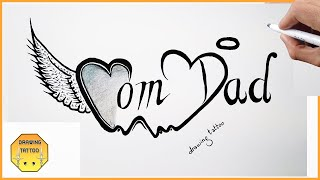 In this video, we are drawing a mom and dad tattoo design on paper, it's very good looking tattoo,don't forget to like subscribe our channel