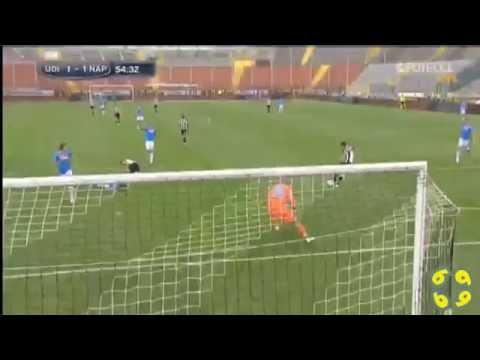 Udinese Goal against Pepe Reina (Napoli)