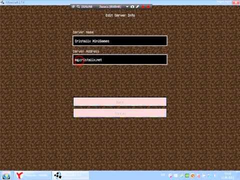 Кристаликс сервер майнкрафт скачать