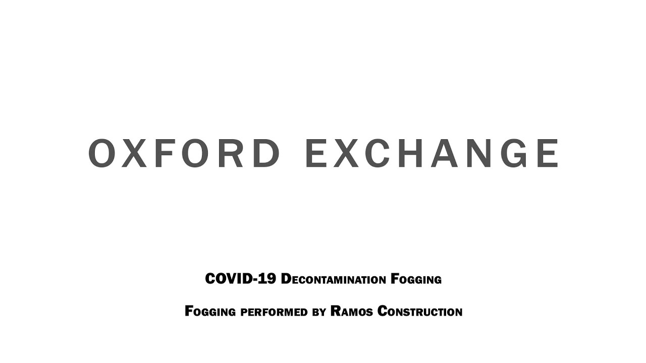 Disinfected: Oxford Exchange