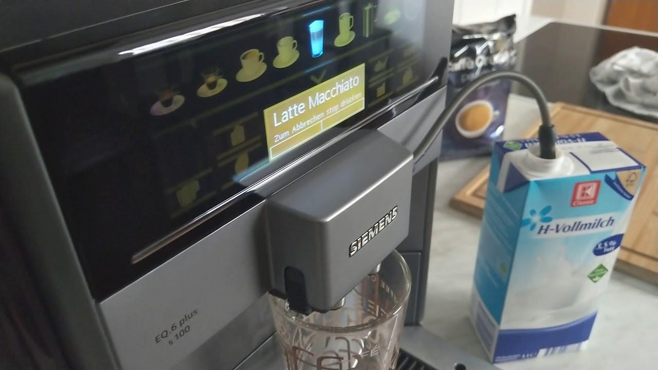 Siemens Eq 6 Plus S100 Test Siemens Kaffeevollautomat Eq 6 Plus S100 Test Youtube
