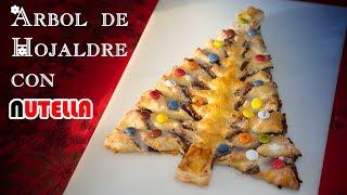 Tarta Hojaldre Arbol de Nutella Avellanas y Caramelos Facilisimo