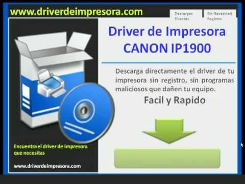 driver de canon ip1900 para windows 7