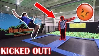TRYING TO GET KICKED OUT OF SKYZONE! (SO CRAZY) With Jack Doherty!