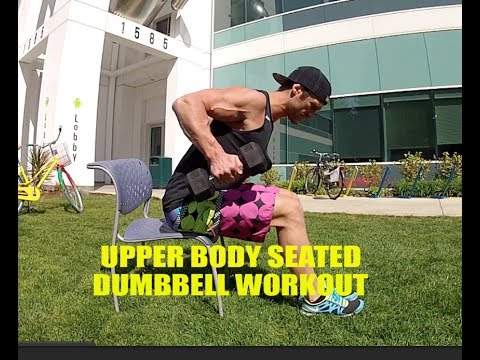 Upper Body Workout with Dumbbells from Seated Position