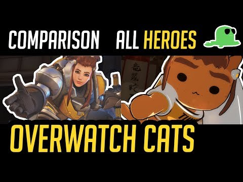 [Comparison] Overwatch but with Cats - ALL HEROES - 'Katsuwatch' (UPDATED)